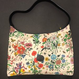 Authentic Gucci vintage accornero floral hobo bag